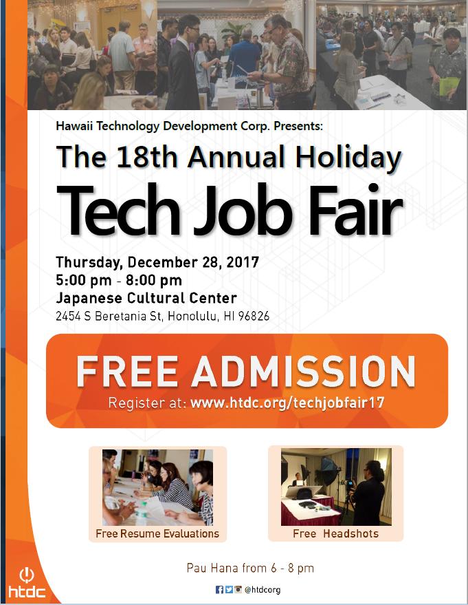 Poster for TechJobFair